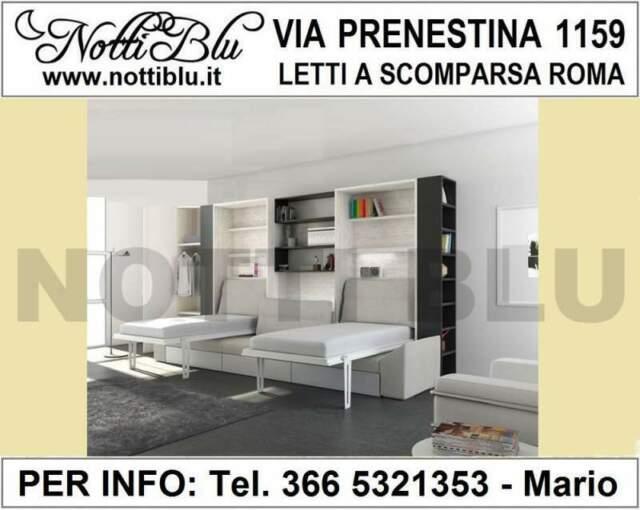 Letti a Scomparsa Roma _ Letto VE528 Via PRENESTINA