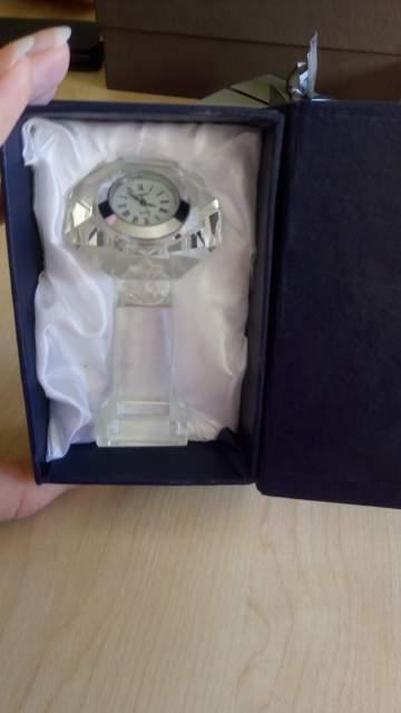Orologio soprammobile in vetro - idea regalo