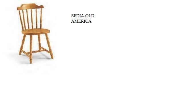 Sedia old america per arredo pub birreria ristorante