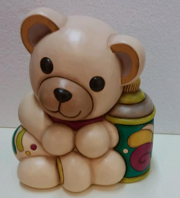 Teddy pittore in ceramica thun nuovo con scatola mai usato