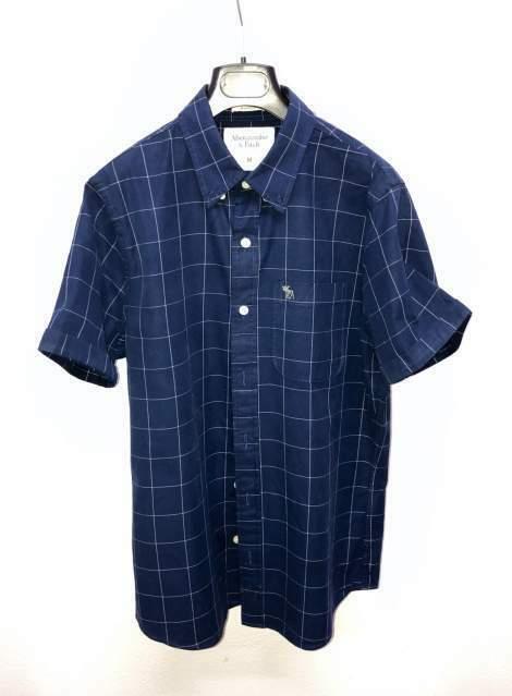 Abercrombie & Fitch Camicia Polo Blu originale taglia M