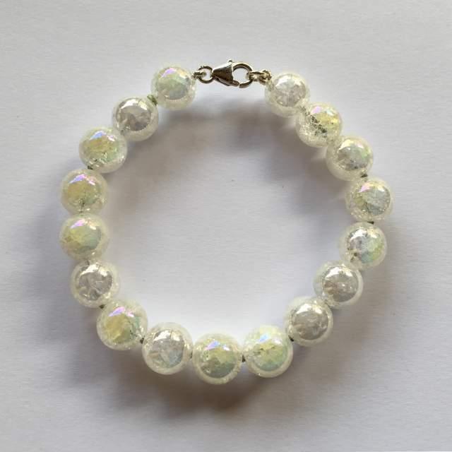 Bracciale a sfere in cristallo di rocca 10 mm