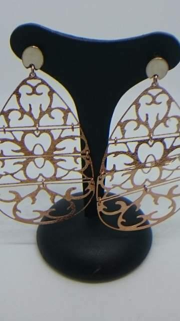 Orecchini pendenti in argento 925 rodiato nuovo