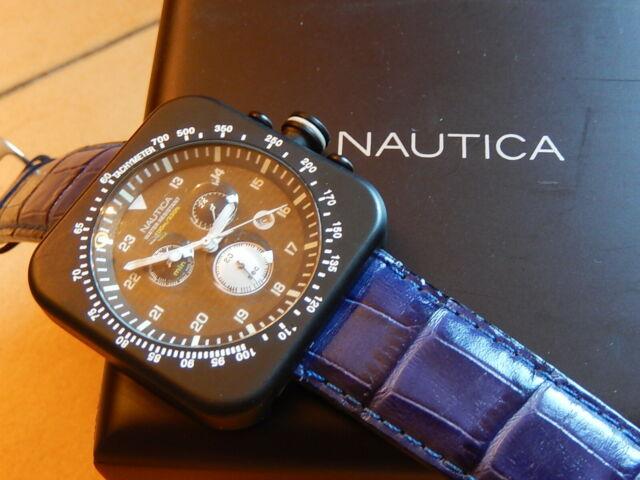 "Orologio cronografo Nautica ""carbon dial"" total black"