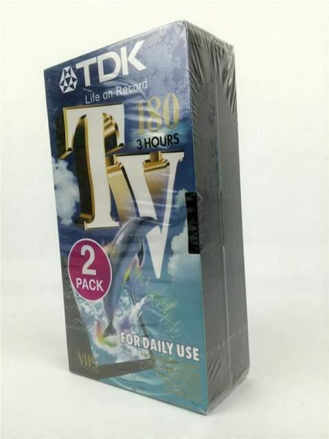 Videocassette tdk da 180 min. pacco da 2 vhs nuove