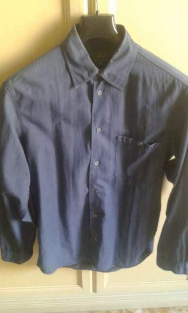 Camicia CALVIN KLEI in jeans sfumato taglia xl