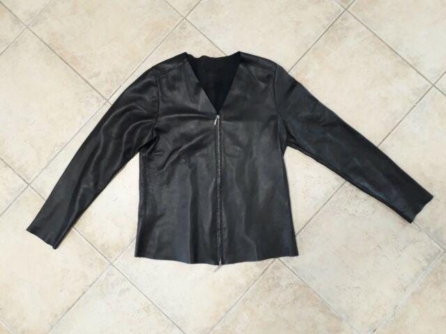 Giacchetto di vera pelle donna aniye by taglia m nero