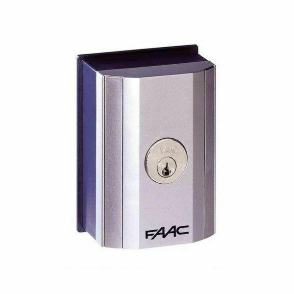 Pulsante a chiave da parete o colonnetta t10 e n.1 faac