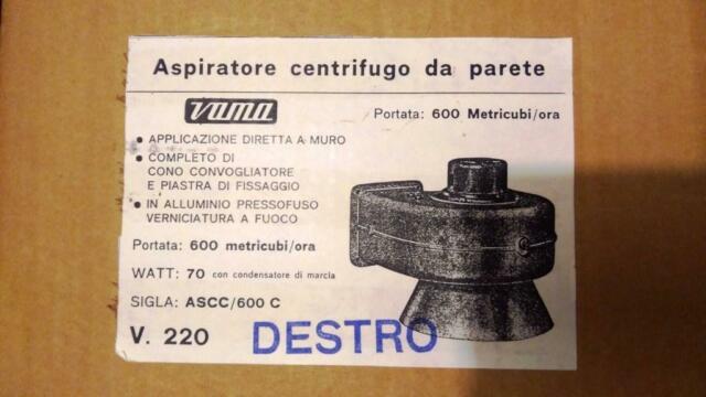 Cerco: Cerco aspiratore centrifugo da parete Vama V220 sigla