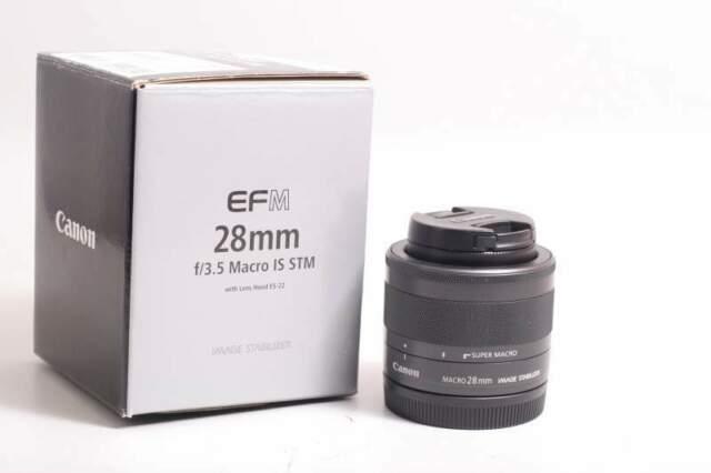 Obiettivo canon ef-m 28 mm f/3.5 macro is stm. garanzia.