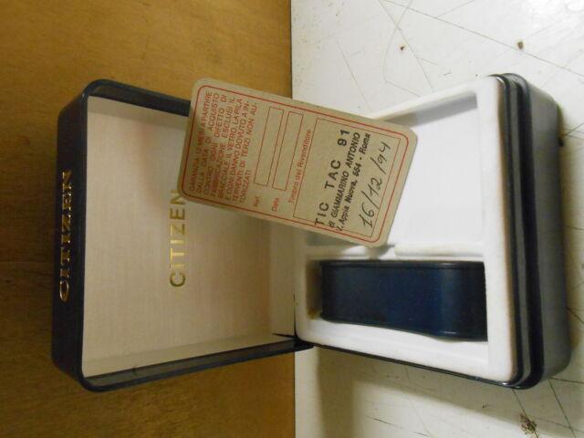 Scatola per orologio della citizen vintage
