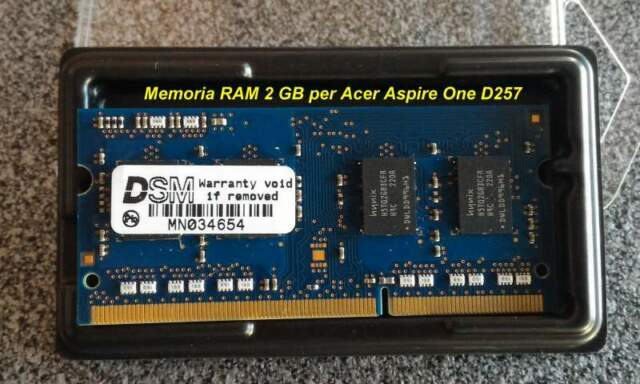 Memoria RAM 2GB per Acer Aspire One D257