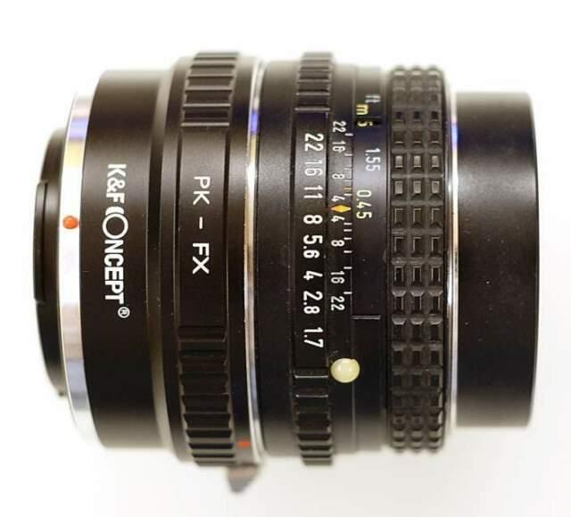 Pentax M 50mm F 1,7 con adattatore Fujifilm Fujinon