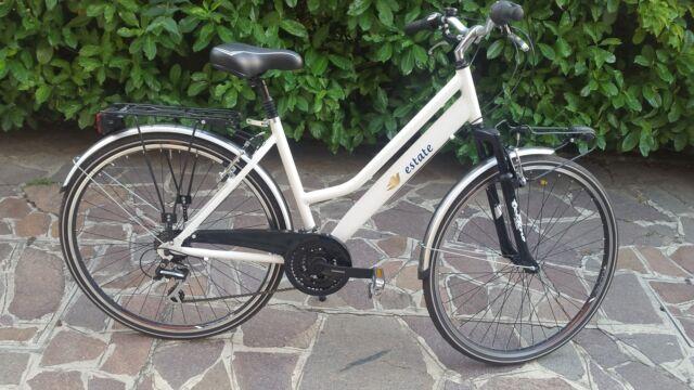 Bici donna city bike bi-ammortizzata CUBE