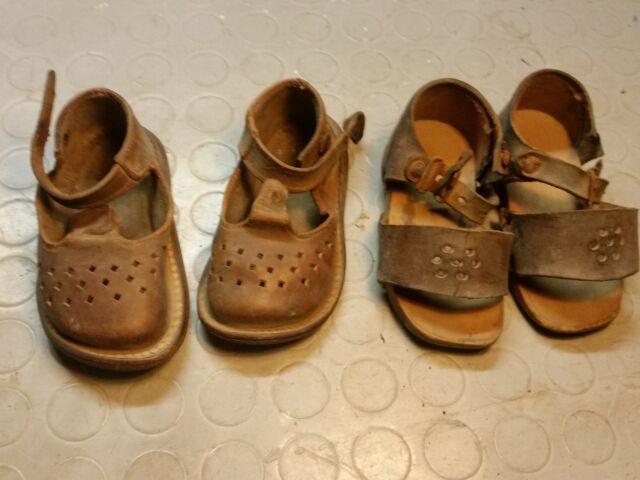 Sandali in cuoio per bimbo inizi novecento