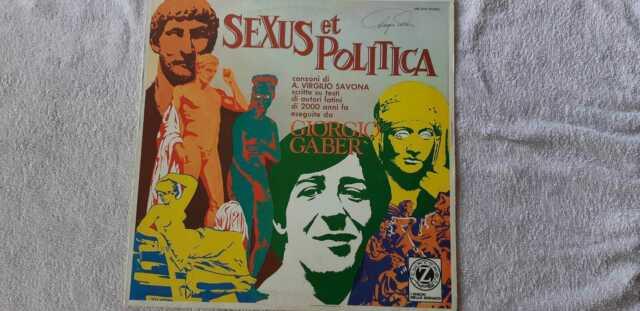 33 giri GIORGIO GABER - Sexus et politica autografato!