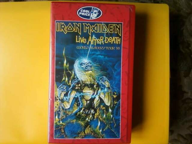 Videocassetta vhs da collezione -iron maiden-life after