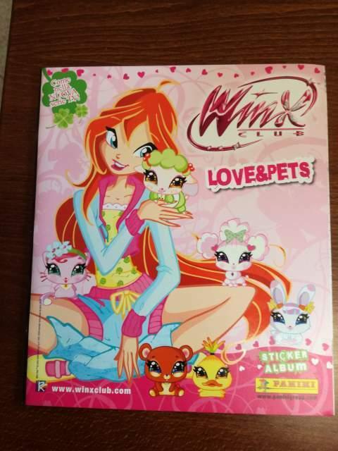 Album Winx Love & Pets, vuoto, da edicola
