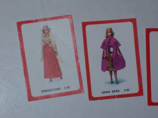 Carte abiti del gioco di Barbie