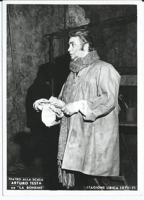 Foto con dedica e autografo del cantante Arturo Testa
