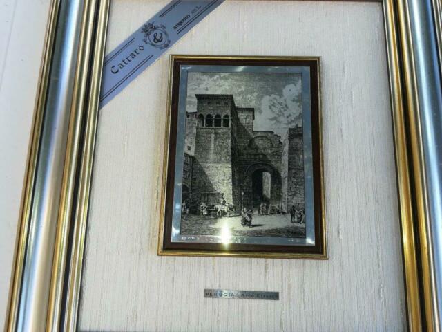 Litografia su lastra d'ARGENTO Arco Etrusco