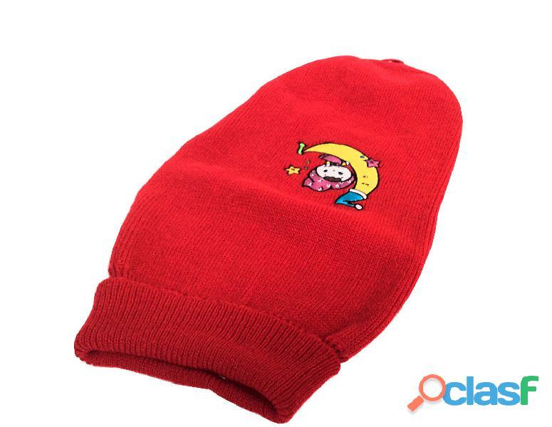 Maglione lana per cane rosso con ricamo Charlie TG 51