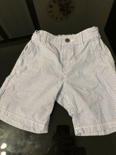 Pantaloncini cotone rigato azzurro e bianco tg.1/2-2 anni,