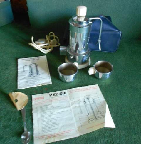 Caffettiera Velox Patent anni 60 e altre da collezione