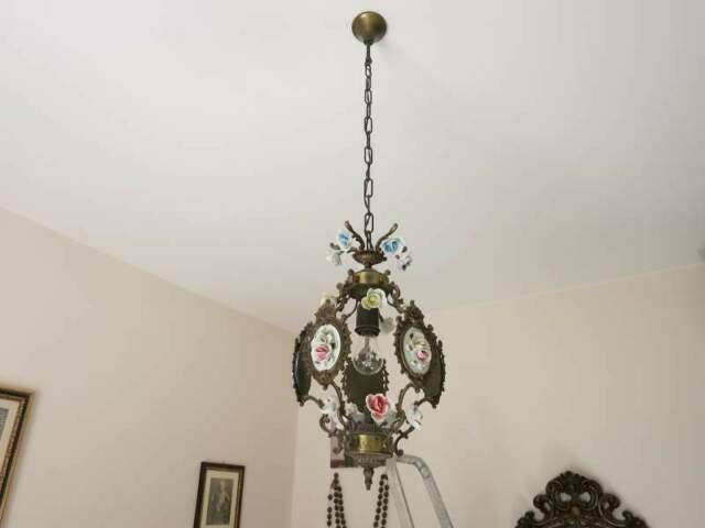 Trittico lampadario + due applique camera da letto