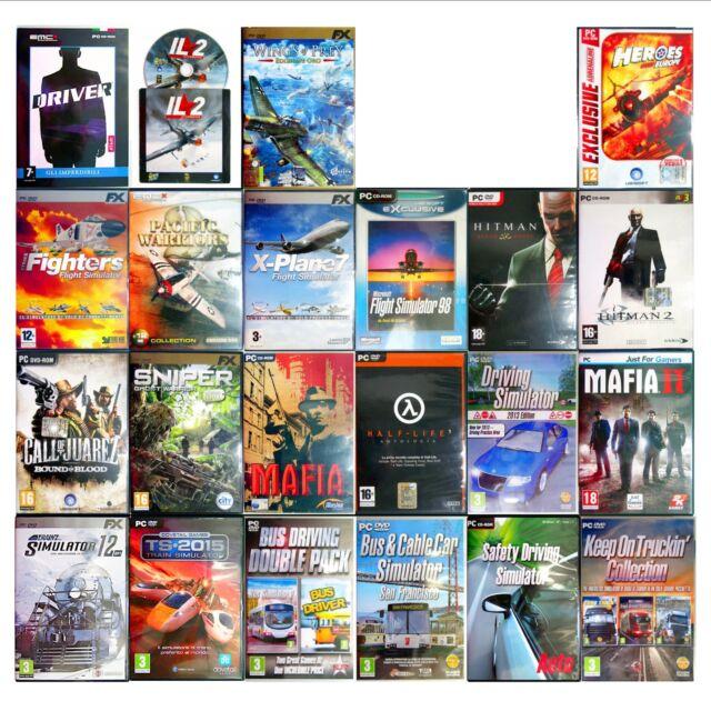 IL2, Microsoft Flight, X-Plane, Hitman, Call, Mafia, Sniper