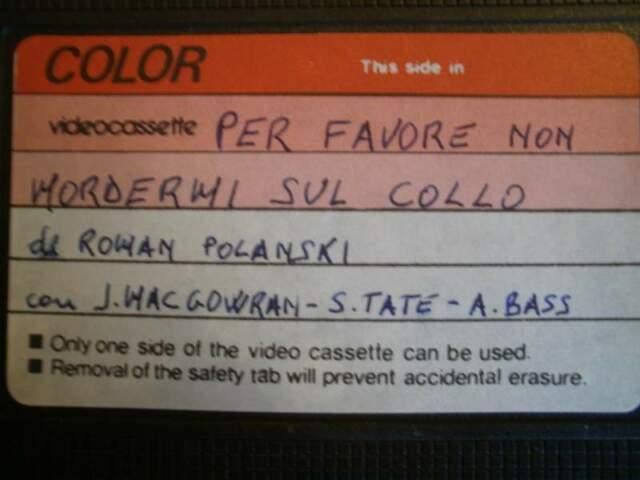 Per favore, non mordermi sul collo! (VHS) di Polanski