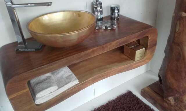 Arredo bagno 103 massello suar lavabo oro o pietra