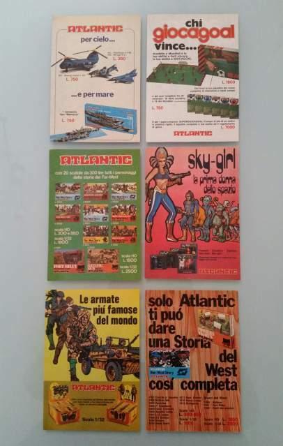Lotto di 18 Inserti Pubblicitari Advertising Giochi Atlantic