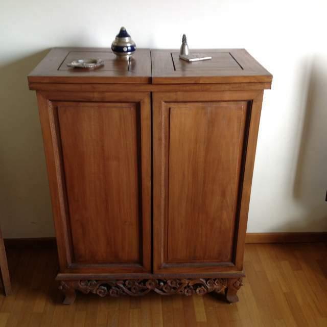 Mobile bar in legno massello antico
