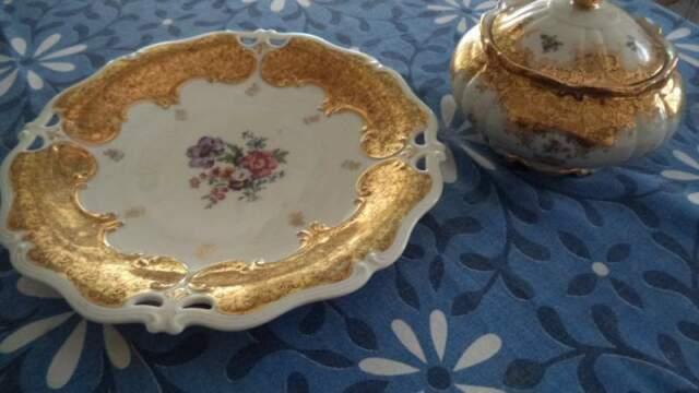 Piatto e ciotola ceramica Bavaria, anni Cinquanta