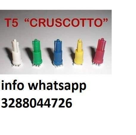 5 lampadine a led t5 w1,2w 1smd bianco luci cruscotto