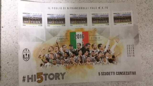 Foglietti di francobolli commemorativi Juventus