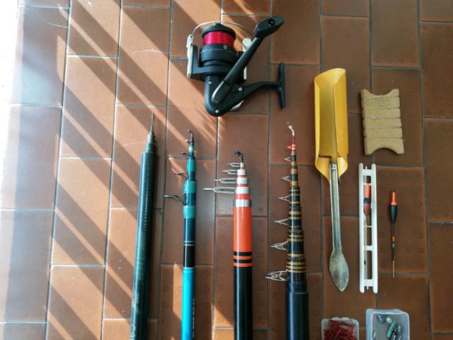 Canne da pesca Trota più Mulinello Ed accessori