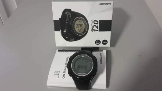 Geonaute onmovie 120 GPS Contapassi Orologio da polso