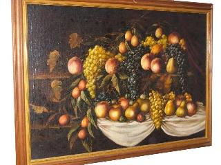 Dipinto olio su tela primi '900. Natura morta