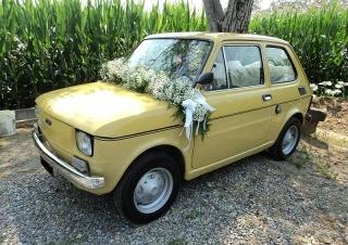 Noleggio con autista per matrimoni Fiat 126 d'epoca e Alfa R