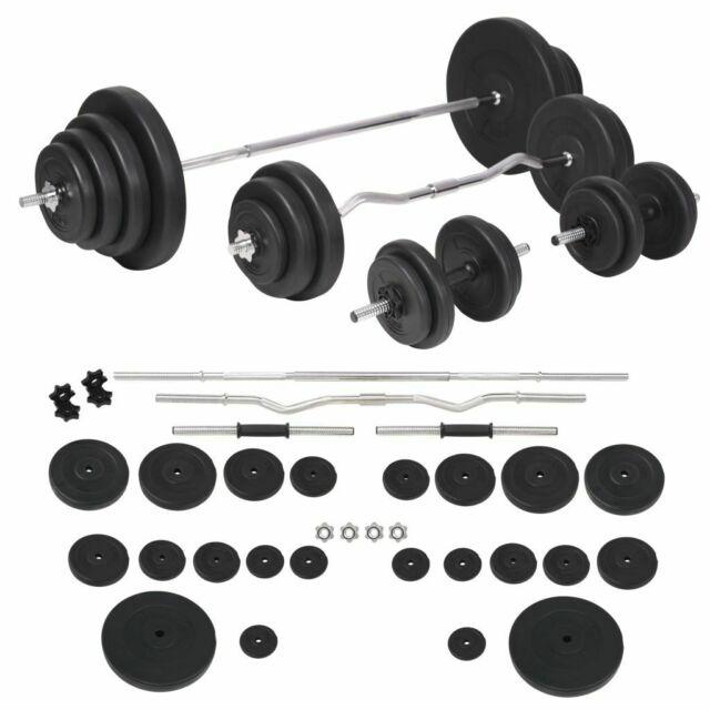 VidaXL Set Bilanciere e Manubri da 120 kg