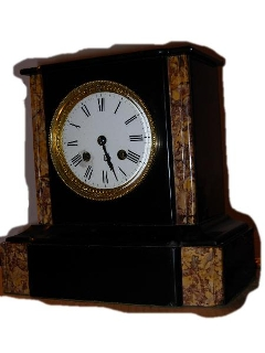 Orologio marmo nero e variegato '800