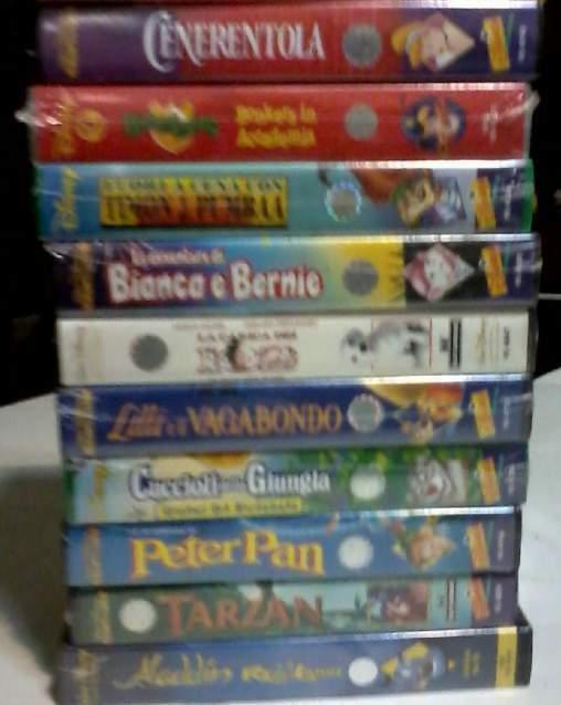 Stock di 10 VHS serie Walt Disney