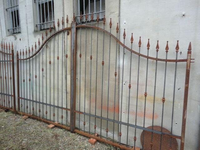 Cancello in ferro naturale di 400 x 175 x 235 con accessori