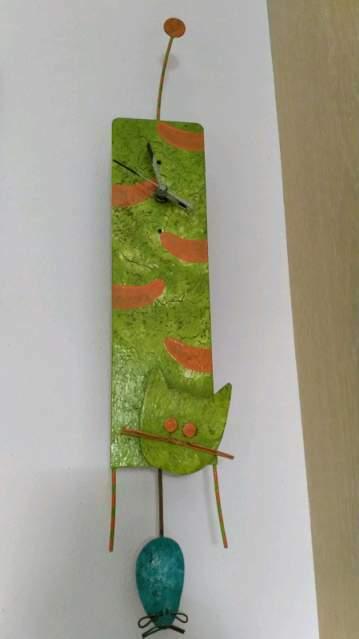 Fair Trade Orologio da parete Gatto e Topo-ca. 10x