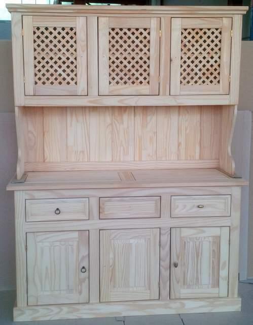 Mobile credenza napoletana 3 porte legno massello naturale
