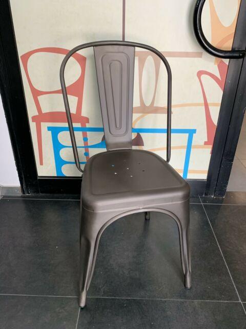 Sedie in metallo stile industriale trasparente o colore