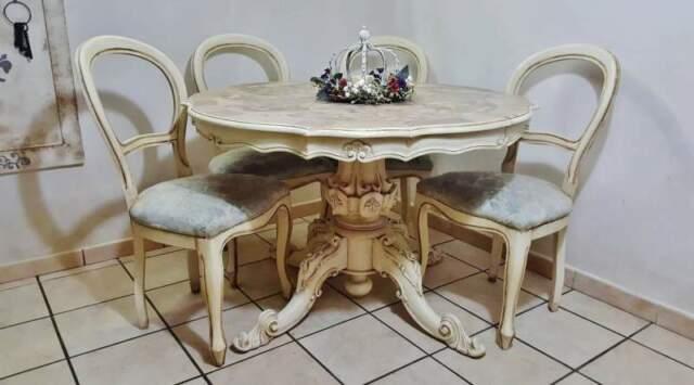 Tavolo e sedie Shabby Chic