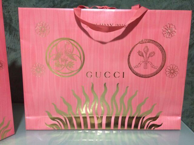 Gucci shopper bag di carta ed limitata holiday busta